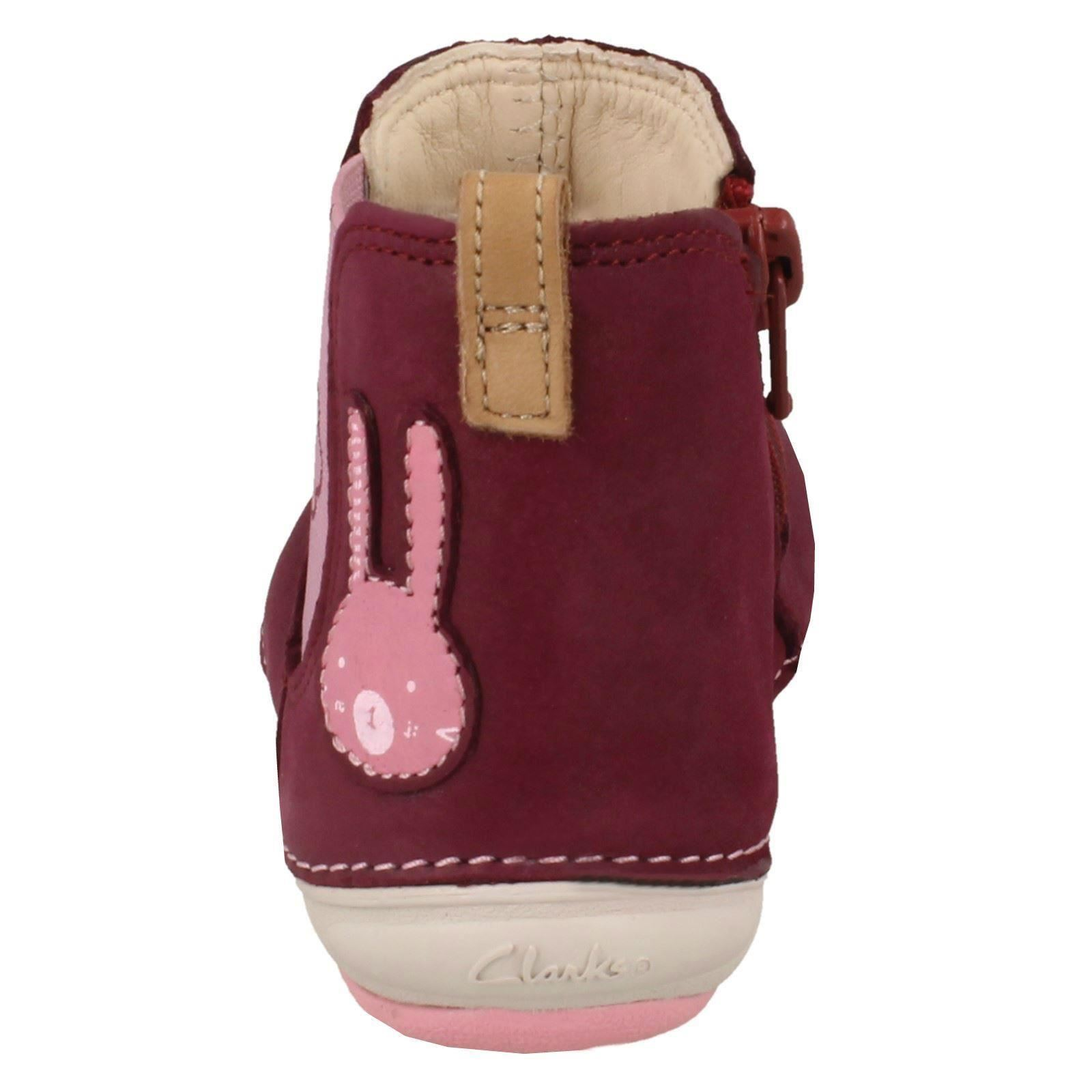Girls First Shoes By Clarks Chelsea Boots /'Softly Eli/'