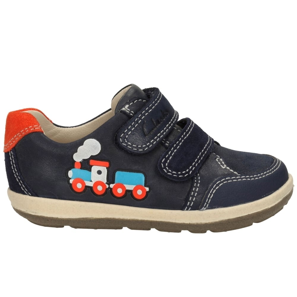 f5627ad9288 Clarks Softly Tom Shoes. €22.00. Size 4 / 20 – Boys CLARKS 'Softly Tom' First  Shoes – Navy Full Leather