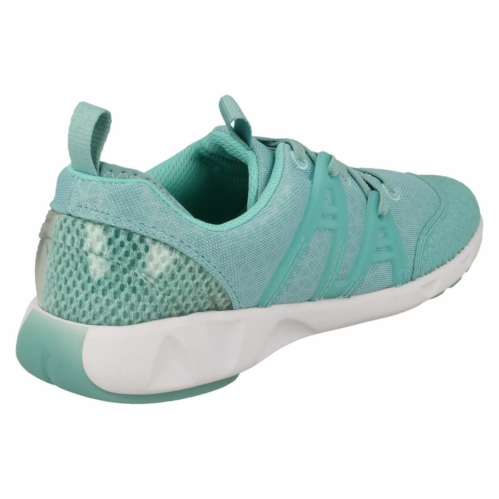LUMINOUS GLO CLARKS GIRLS SLIP ON CASUAL SPORTS EVERYDAY SPORTY TRAINERS SHOES